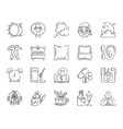 insomnia charcoal draw line icons set vector image