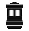 lens icon simple style vector image