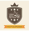 motorcycle shield vector image