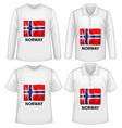 Norway shirt vector image vector image