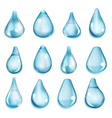 Opaque light blue drops vector image vector image
