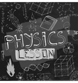 Physics Background 01 A vector image vector image