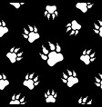 predator traces seamless black and white vector image