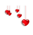 red hearts icon set happy valentines day isolated vector image vector image