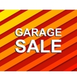 Red striped sale poster with GARAGE SALE text vector image