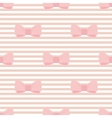Seamless pastel pink bows decoration wallpaper vector image vector image