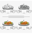 set of different images of salmon vector image vector image