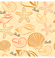 Shells seamless2 vector image
