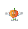 silent sweet nectarine character maskot cartoon vector image vector image