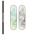 Skateboard Design Abstract Mushroom Four vector image vector image