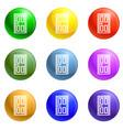 smartphone wireless lock icons set vector image vector image