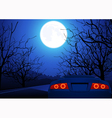 Sport car on night road vector image vector image