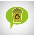 symbol recycle trashcan design vector image vector image