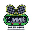 tennis court logo with text space for your slogan vector image vector image