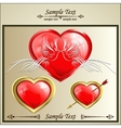 two doves on a red heart vector image vector image