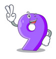 two finger number nine athletics the shaped vector image