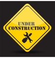 Under Construction Eps10 vector image vector image