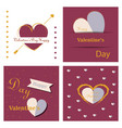 valentines day party flyer eps10 vector image vector image