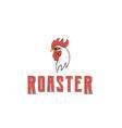 vintage rooster head logo vector image