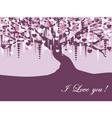 vintage violet tree vector image vector image