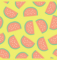 watermelon slices background seamless vector image