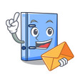 with envelope office binder with file character vector image