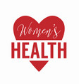 womens health logo isolated on white background vector image vector image