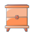 wood bedside table icon cartoon style vector image vector image