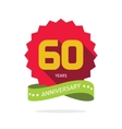 Years 60 anniversary label logo 60th vector image vector image