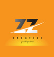 zz z letter modern logo design with yellow vector image vector image