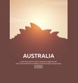 travel poster to australia landmarks silhouettes vector image