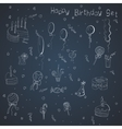 Set of hand-draw things for a birthday celebration vector image