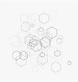 abstract with hexagons vector image vector image