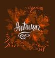 autumn dark card vector image vector image