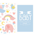 baboy shower card light blue invitation vector image vector image