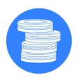 Barricade from tires icon in outline style vector image vector image