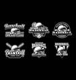 baseball badge logo emblem template set pack