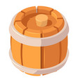 beer wood barrel icon isometric style vector image