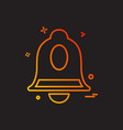 bells icon design vector image