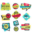 best offer sale and discount isolated icons 50 off vector image vector image