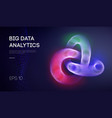 big data network information background internet vector image