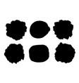 black brush strokes isolated on white vector image