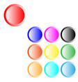 button different color ten items vector image