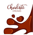 chocolate background with copy space vector image vector image