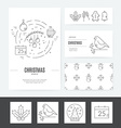 Christmas Business Set vector image vector image