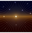 Dark Background with star and rays vector image vector image