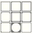 decorative frames set 52 vector image vector image
