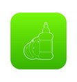 dischwashing liquid icon green vector image