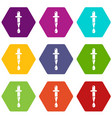 dropper icons set 9 vector image vector image