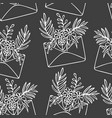 envelopes with flowers pattern seamless picture